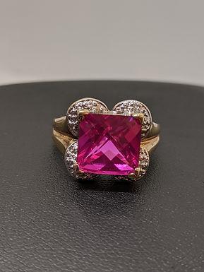 2.0 Carat Natural Pink Topaz Sterling Silver Ring