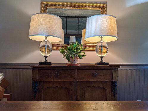 Restoration Hardware Empire Egg Crystal Table Lamps