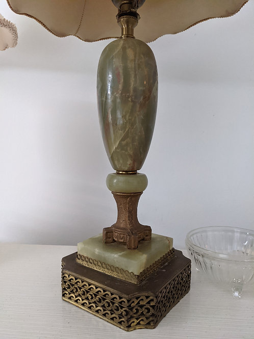 Antique Jade Table Lamps (Pair)