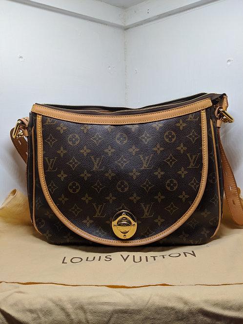 Louis Vuitton AUTH Tulum PM Monogram Shoulder Bag Leather Strap Medium Tag