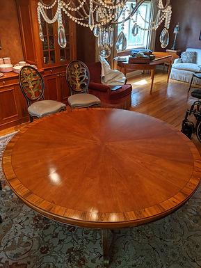 Custom Round Extending Dining Room Table