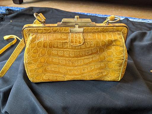 Henri Bendel Yellow Alligator Bag