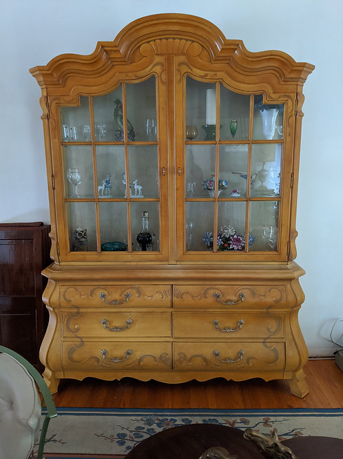 Drexel Heritage Rapport Mimosa Yellow 66″ Bombay China / Display Cabinet 784-339