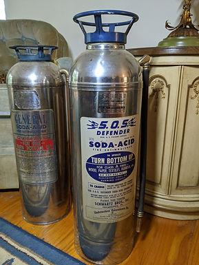 Vintage Soda-Acid Fire Extinguishers x2