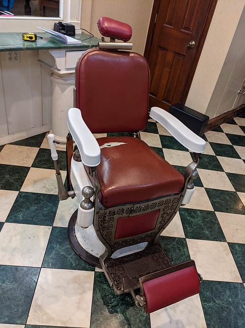 Theo Kochs Barber Chair with Headrest (Available day of sale ONLY)