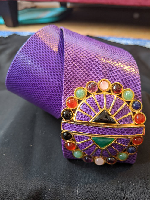 Judith Leiber Purple Snake Belt