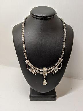 Vintage Imported Crystal Necklace and Bracelet Set