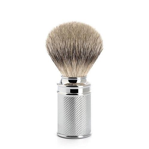 Chroom Scheerkwast Silvertip