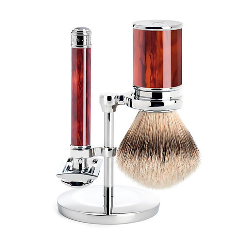 Schildpad Safety Razor Set Silvertip
