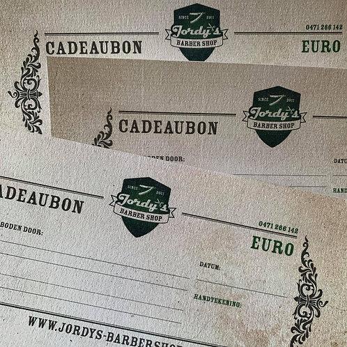 Cadeaubon Herensnit + Baard & Snor