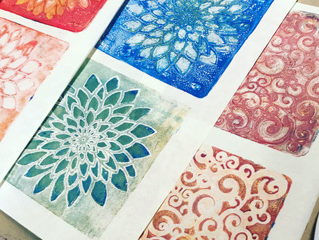 PRETTY PAPERS #GelatinPrinting #mIXEDMEDIA #Mono Prints #scrapbooking #handmadepapers #stenciling