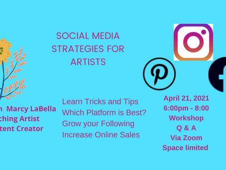 Social Media Strategies for Artists - Workshop ONZoom