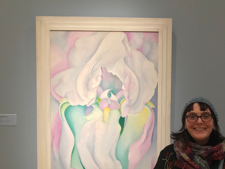 Spring Has Sprung - georgia O'Keeffe at the New Britain, #nbmaa, Guilford Poets Guild