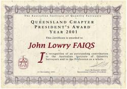 AIQS 2001