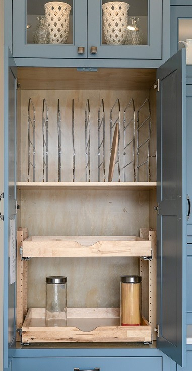 organized pantry with dividers