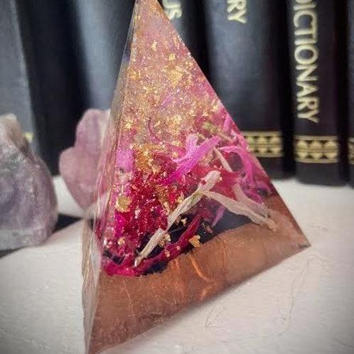 Small Flower Orgonite Pyramid