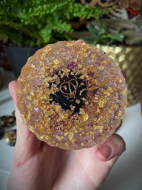 Round Flower Orgonite