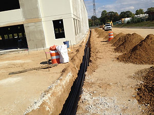 Trench For Electrical Wires