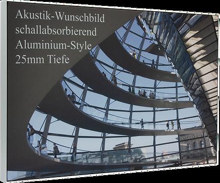 Akustikbild 25 mm Tiefe Aluminium-Style