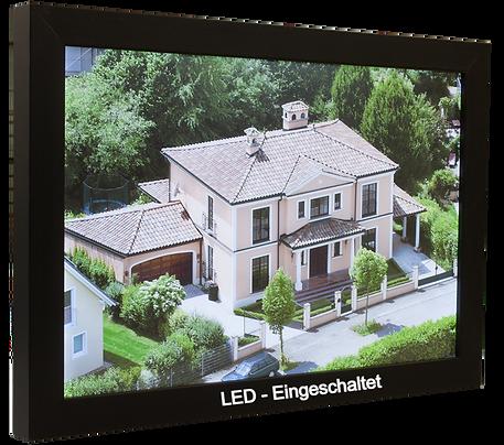 LED Flächenleuchtbilder im Echtholz-Rahmen