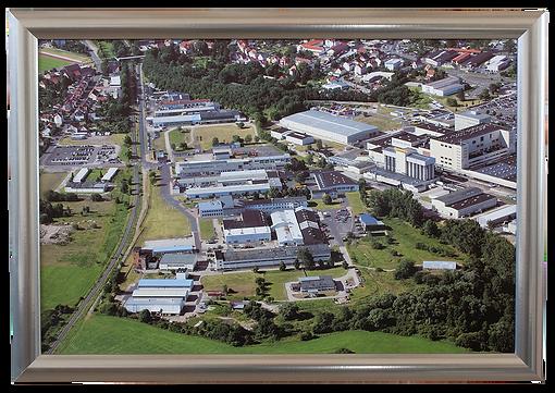 Luftbild 60x40 cm Edelstahlrahmen