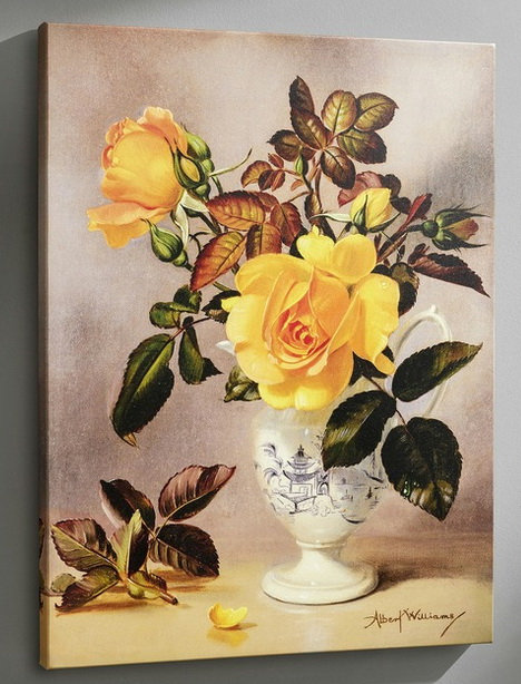 Bild Orange-gelbfarbene Rosen