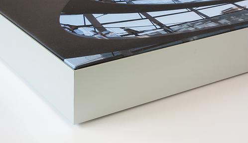 Akustikbild 50 mm Tiefe Aluminium-Style