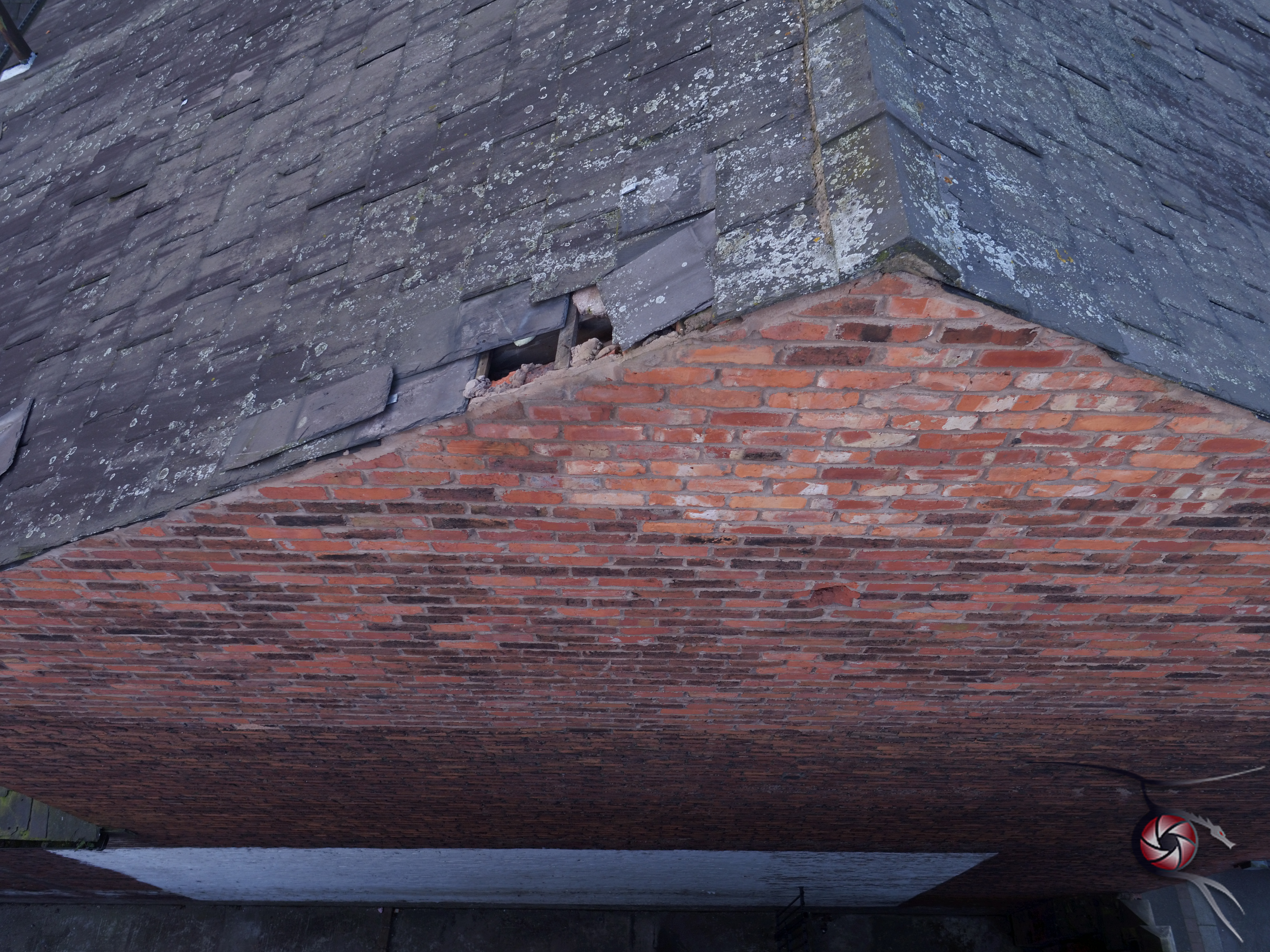 Drone survey of damaged roof