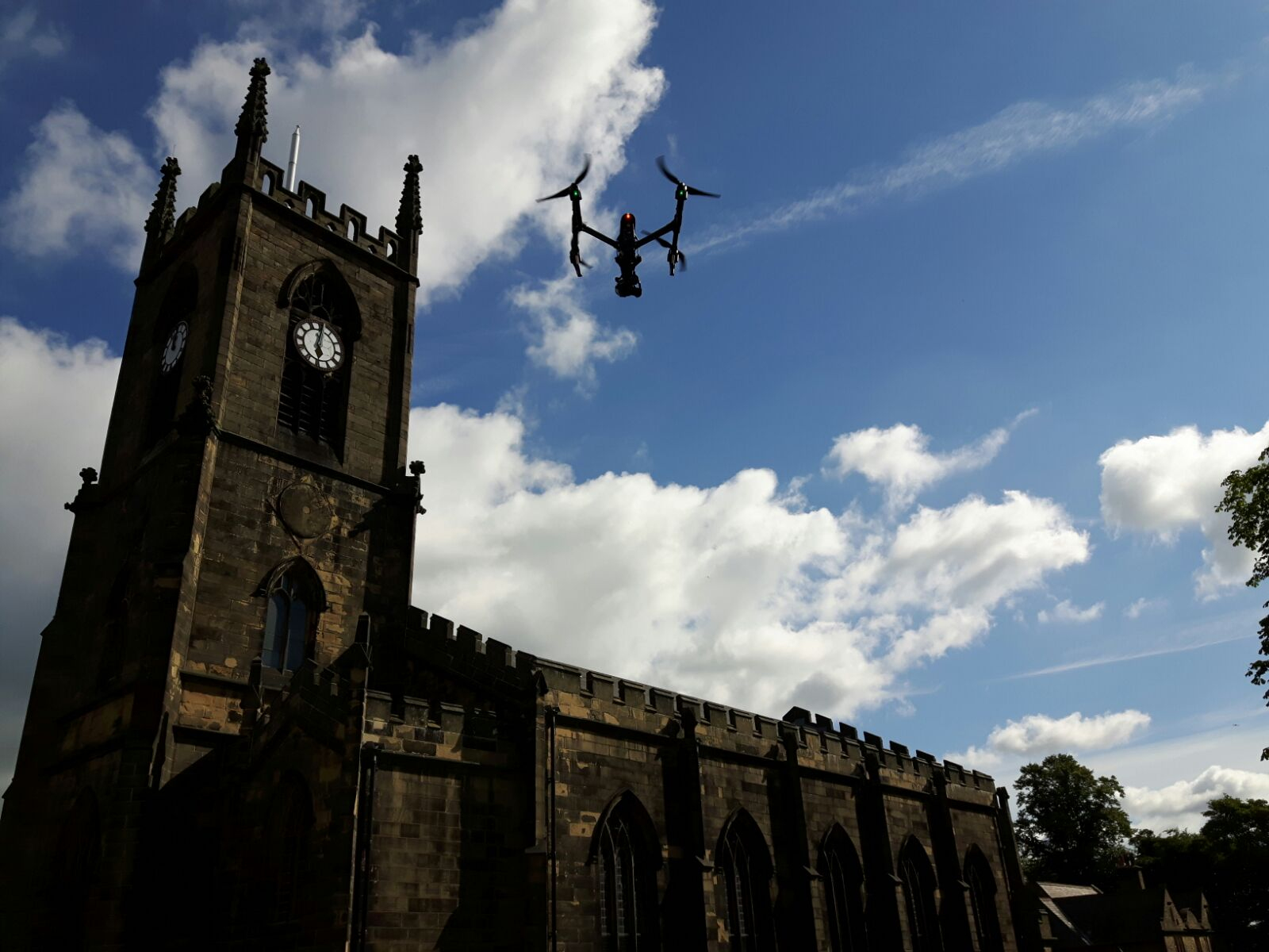 Drone building inspection and survey