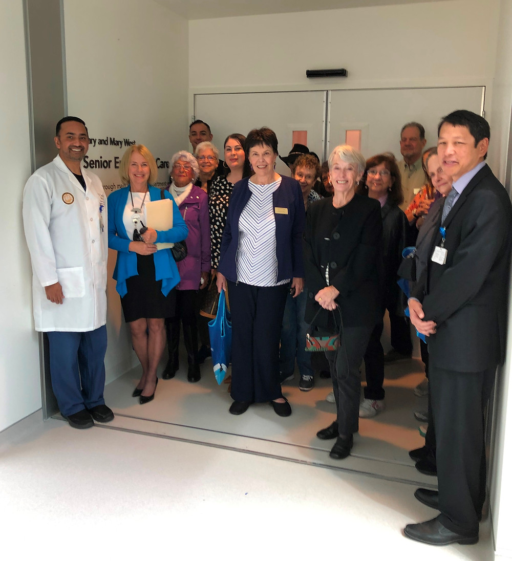 La Jolla Community Center group tours the new UC San Diego Health's Gary & Mary West Senior Emergency Care Unit.