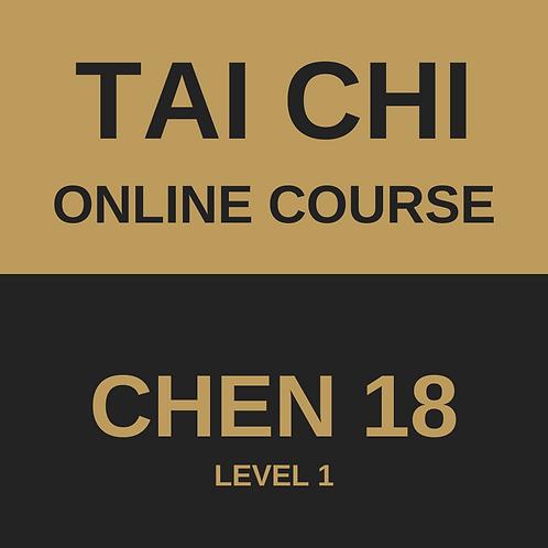 Tai Chi Chen 18 Online Course - All 4 Modules