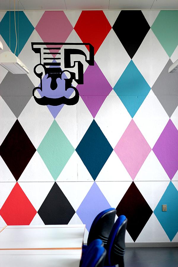 Væg design maleri