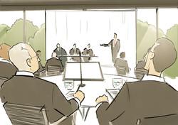 oh man productions-illustration-Event Danske Bank