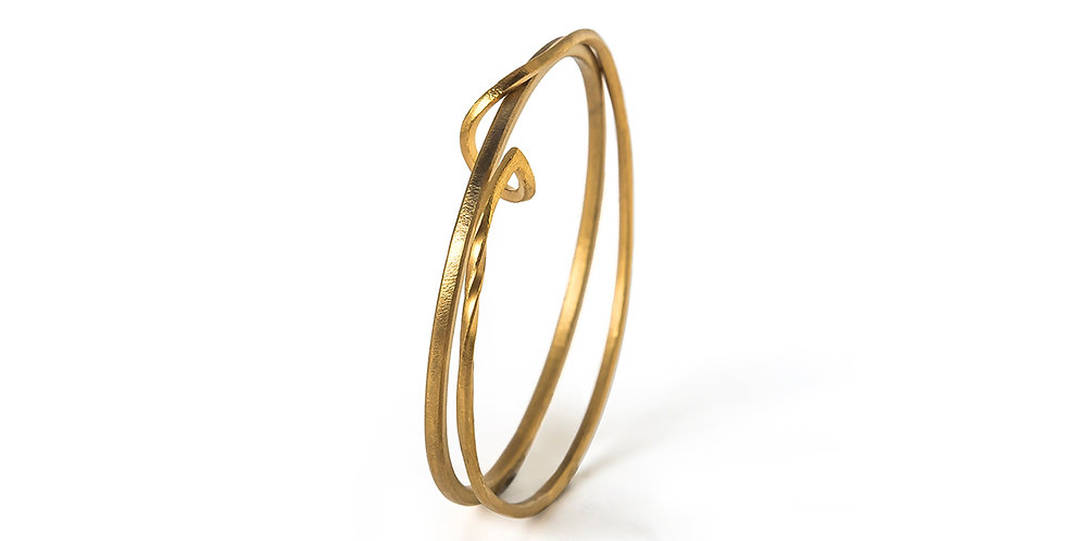 Twisted Hasel Small Bangle