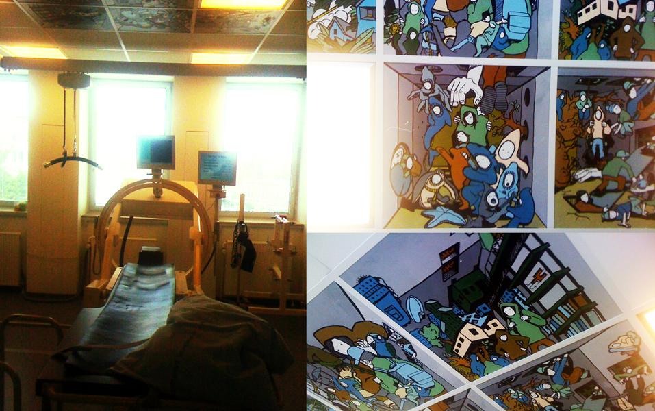 loftsmaleri på Hvidovre Hospital