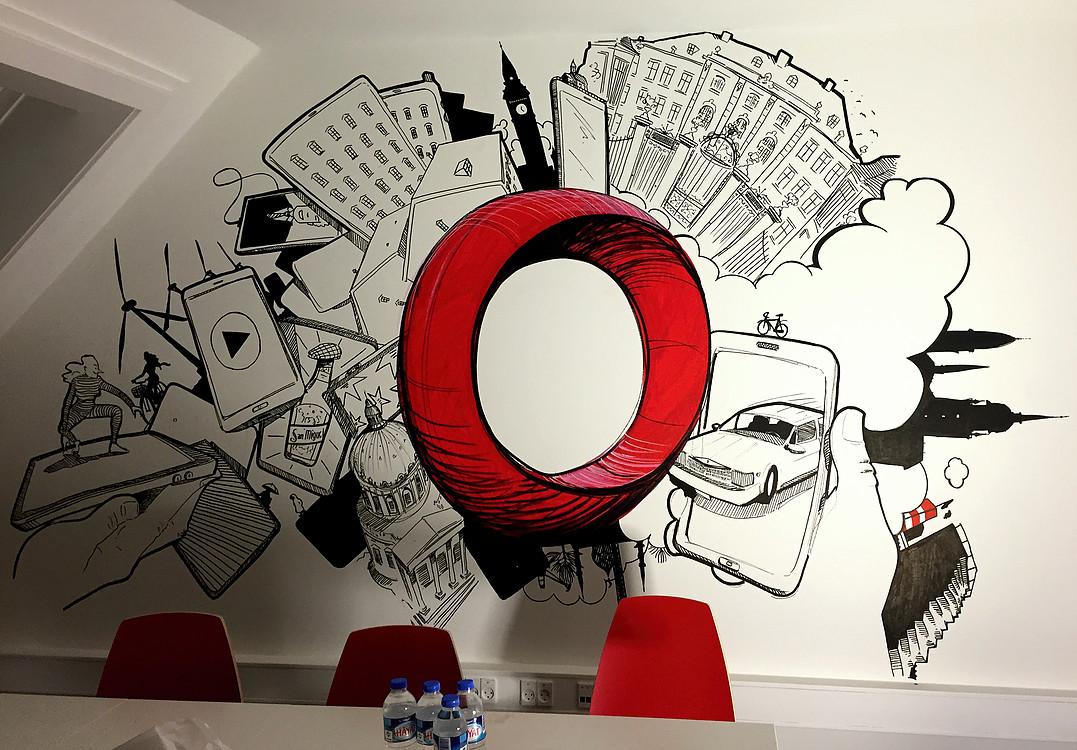 Vægmaleri på Opera Mediaworks