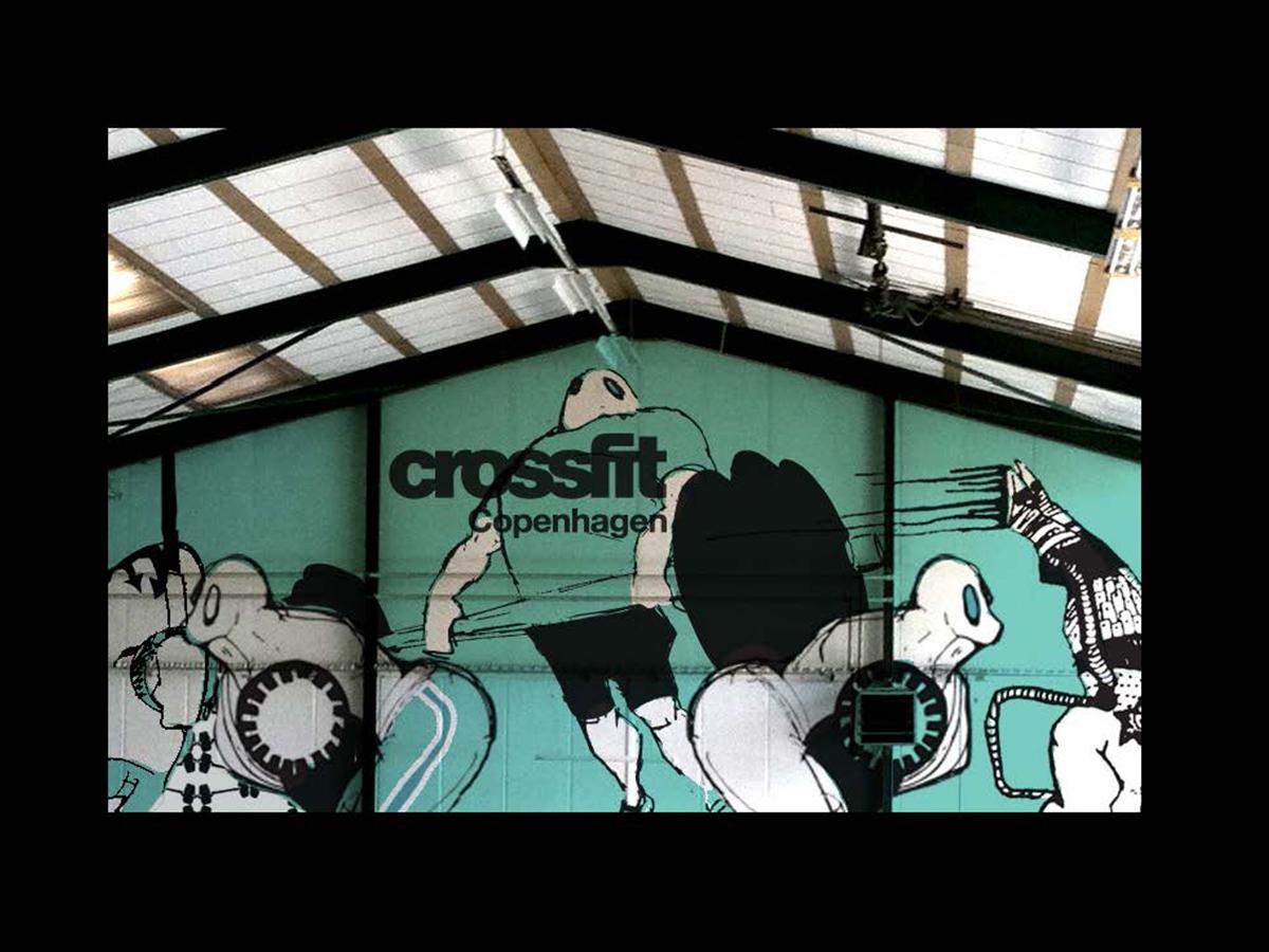 """Vægdesign Crossfitcentret """"Trykkeriet"""""""