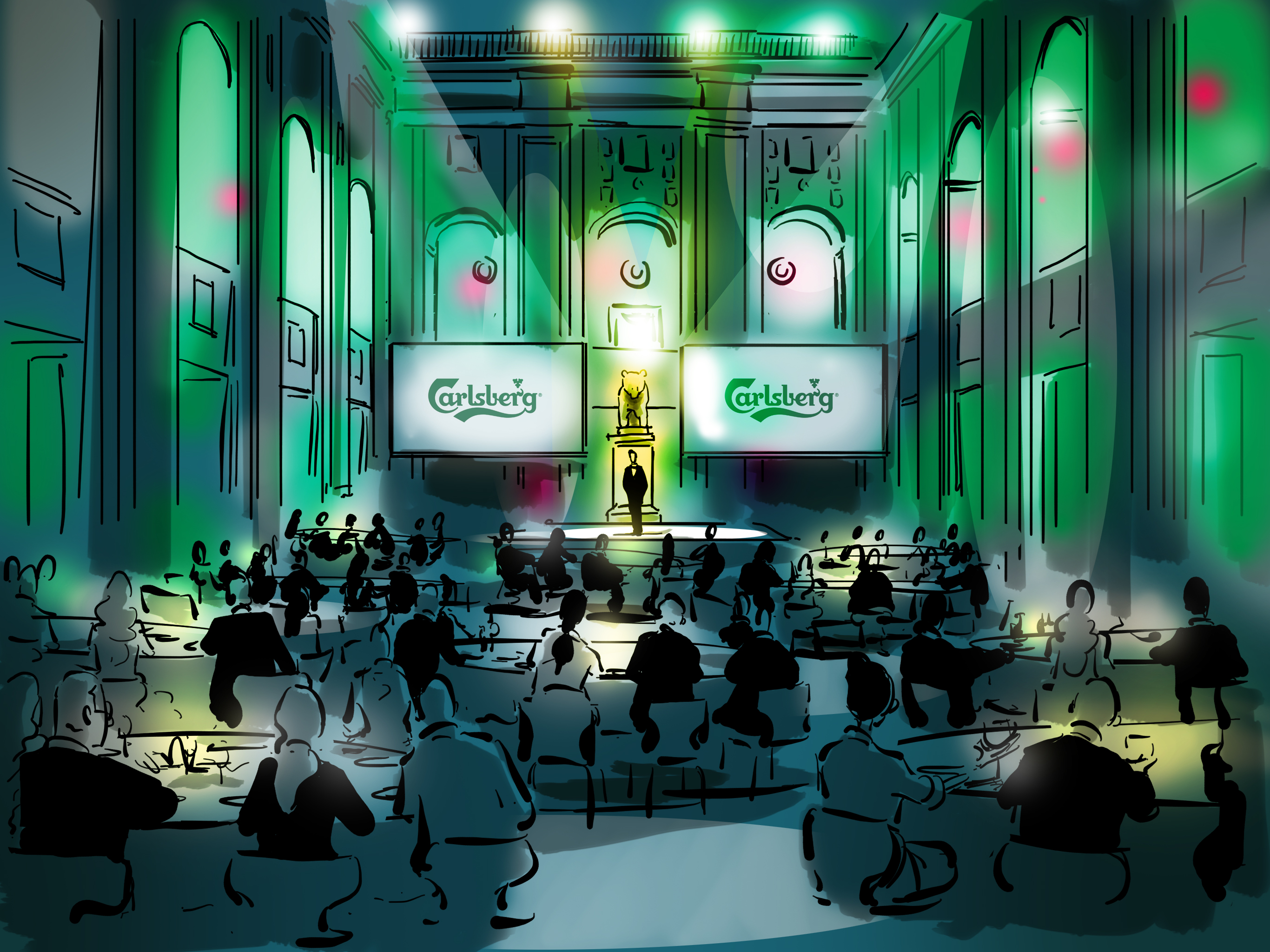 oh man productions-illustration-Carlsberg event
