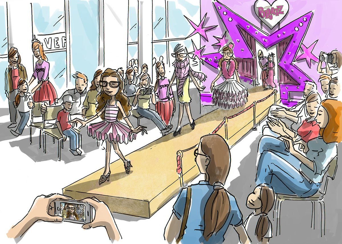 oh man productions-illustration-Bratz event