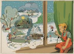Peters Jul inspireret julekort