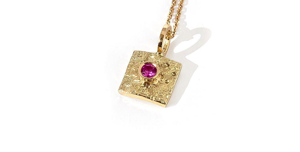 Rustic Structure Pink Pendant