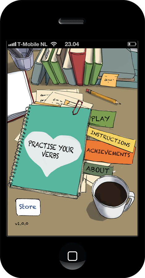 "App design ""Practise your verbs"""