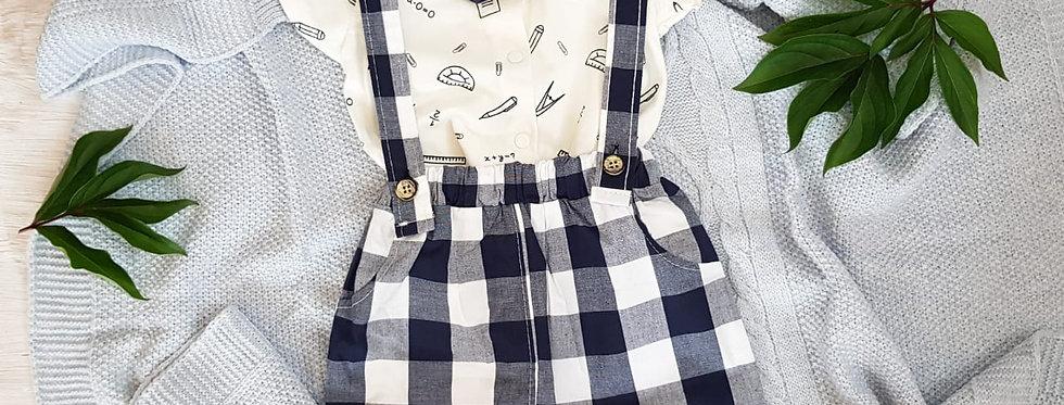 Костюмчик jikko baby •рубашечка •шорты с подтяжками