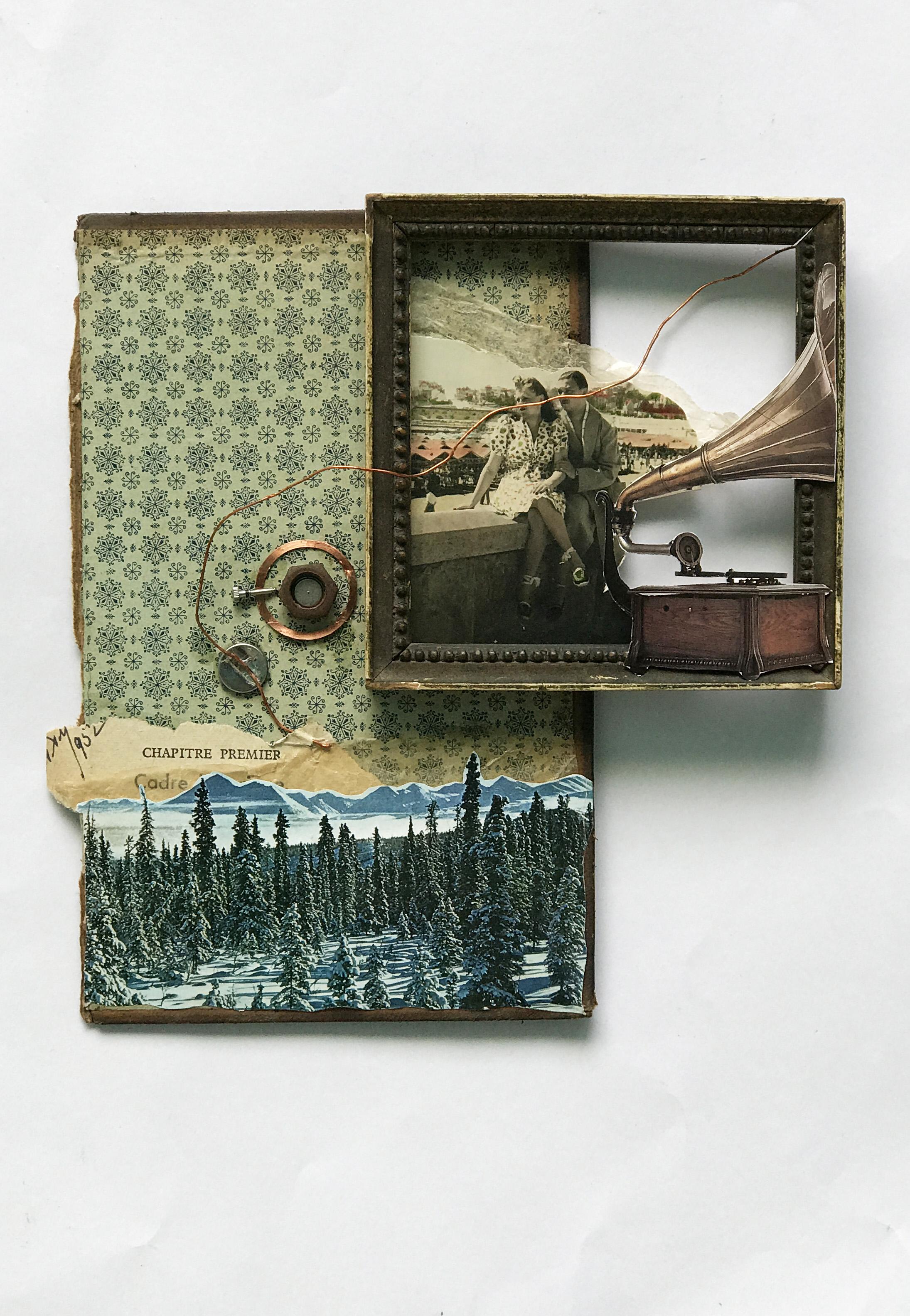 Chapitre Premier 40x30x2,5cm Collage&ass