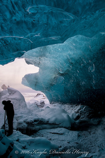 Ice Cave Silhouette
