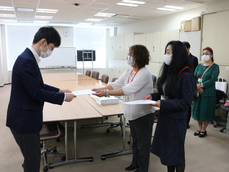 文部科学省へ、54000筆署名簿と陳情書を提出しました