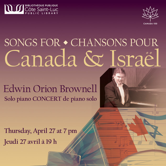 Poster Songs for Canada and Israel 2017