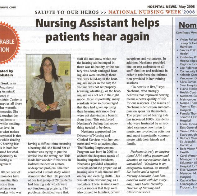 Nechama National Award Health Care News.