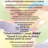 Poster St Margaret's Benefit Concert 2017