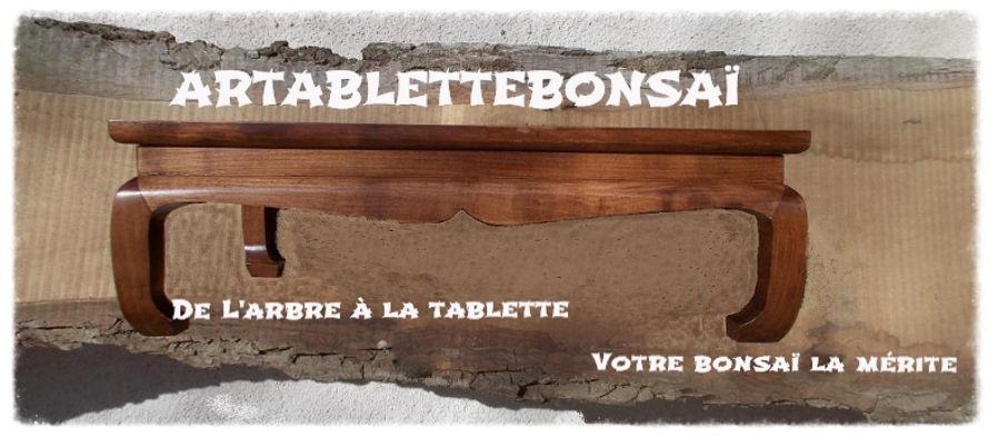 tablette pour bonsai